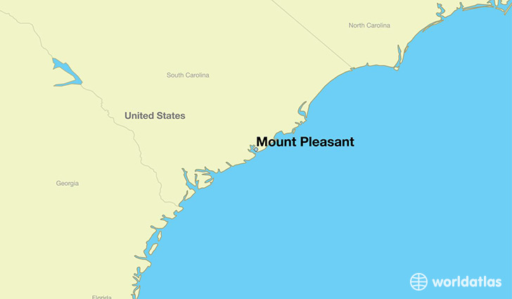 map showing the location of Mount Pleasant