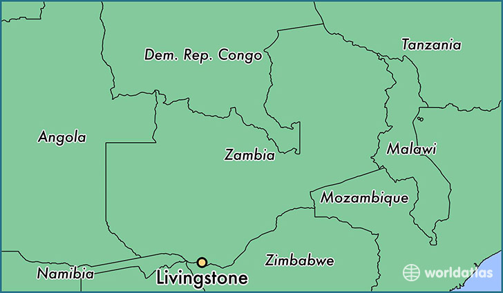 map showing the location of Livingstone