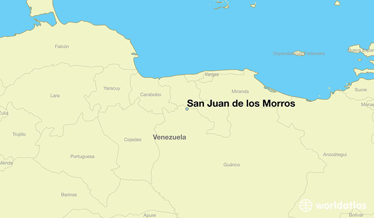 Where Is San Juan De Los Morros Venezuela Where Is San Juan De - Map us laatitude san juan