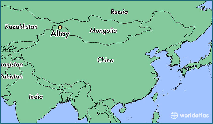 map showing the location of Altay