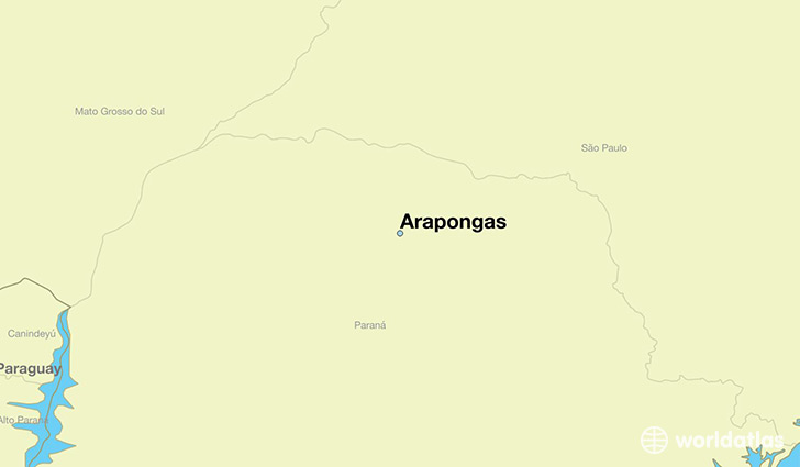 map showing the location of Arapongas