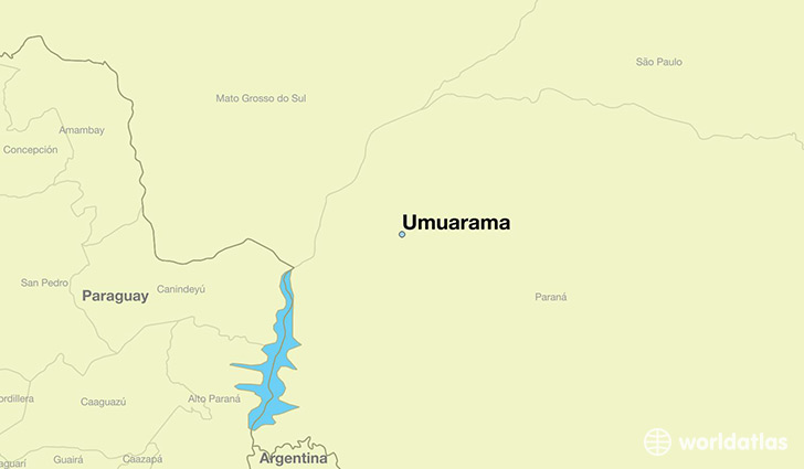 map showing the location of Umuarama