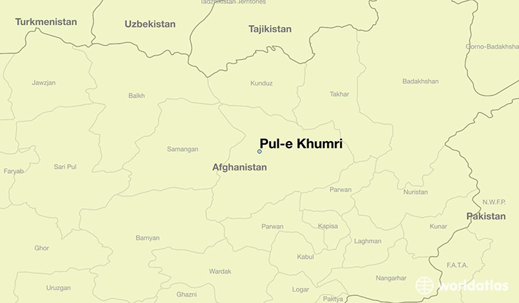 map showing the location of Pul-e Khumri