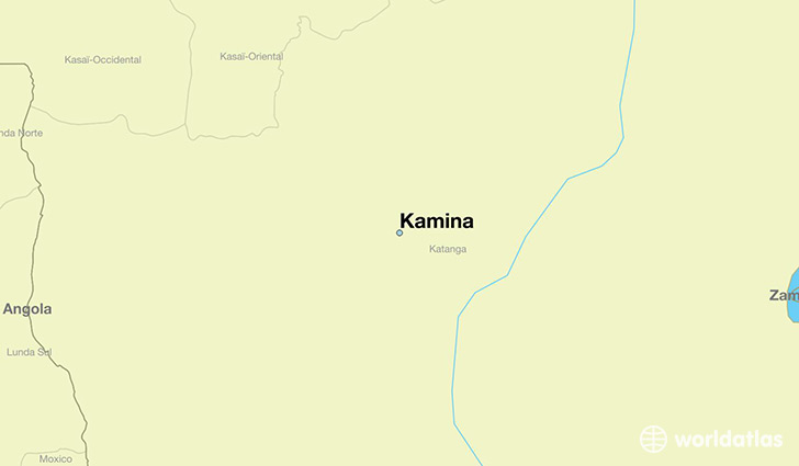 map showing the location of Kamina