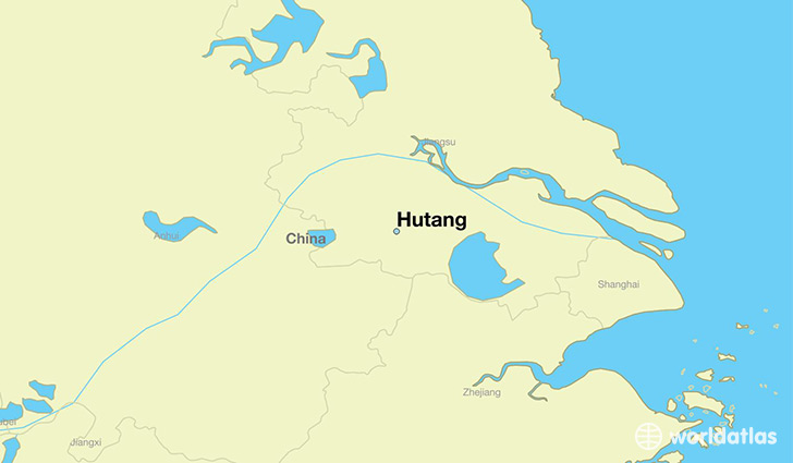 map showing the location of Hutang