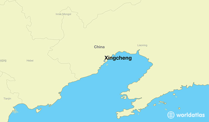 map showing the location of Xingcheng