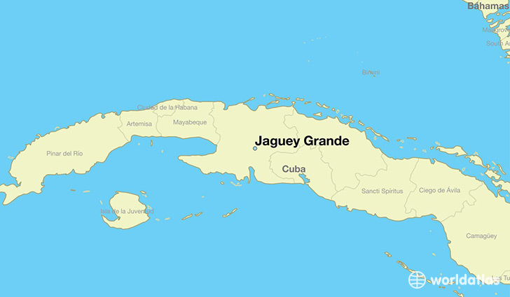 map showing the location of Jaguey Grande