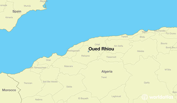 map showing the location of Oued Rhiou