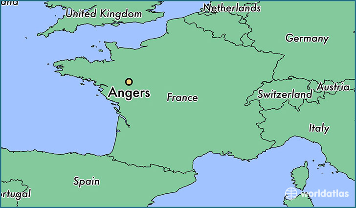 Where is Angers France Angers PaysdelaLoire Map WorldAtlascom