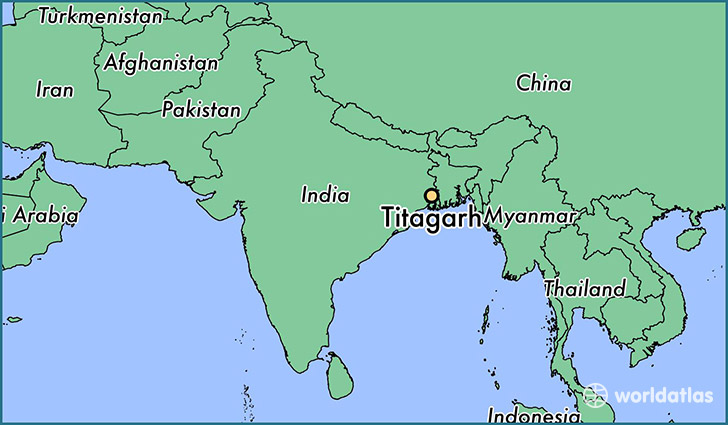 map showing the location of Titagarh