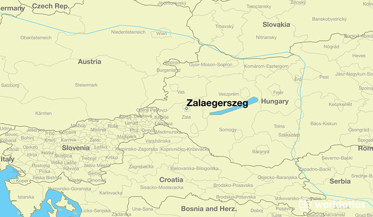 map showing the location of Zalaegerszeg