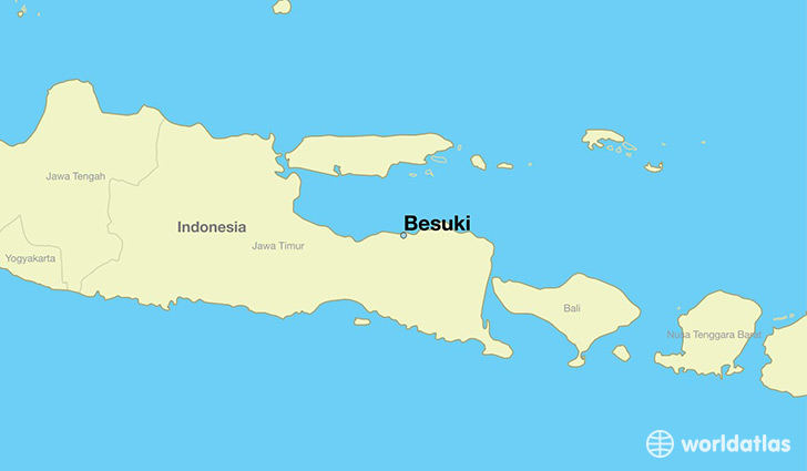 map showing the location of Besuki