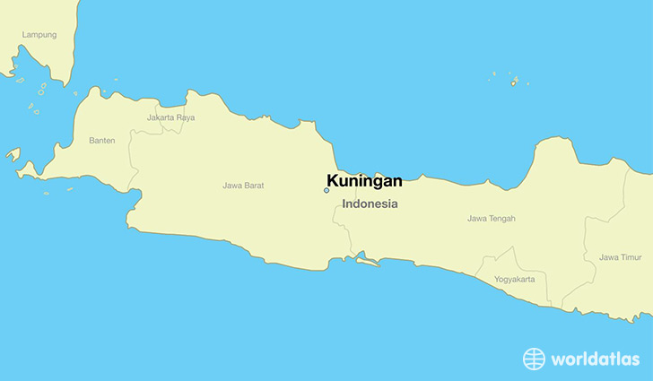 map showing the location of Kuningan
