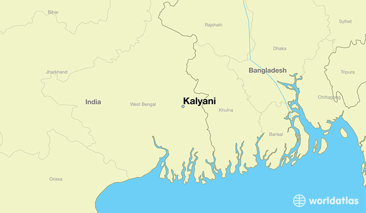 map showing the location of Kalyani