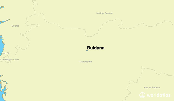 map showing the location of Buldana