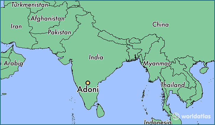 Where Is Adoni India Adoni Andhra Pradesh Map WorldAtlascom - Adoni map