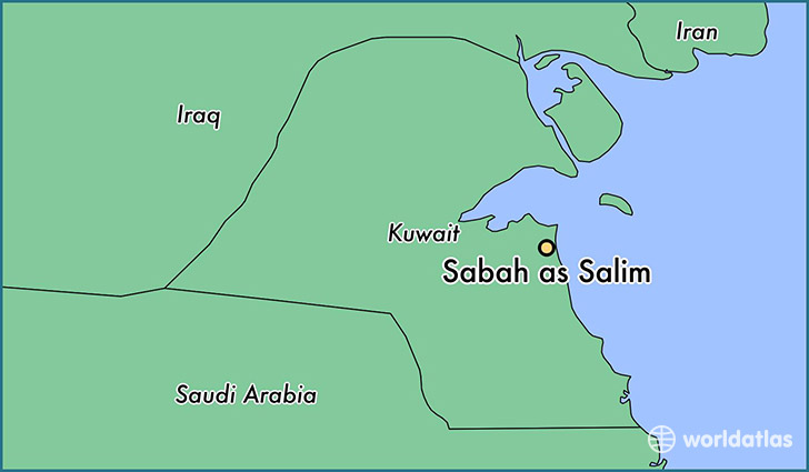 map showing the location of Sabah as Salim