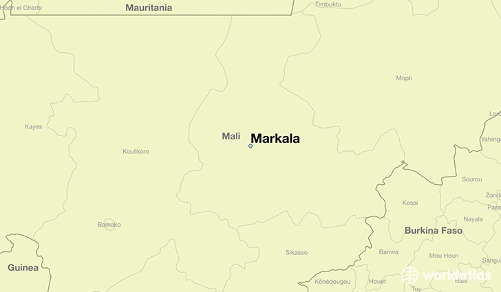 map showing the location of Markala