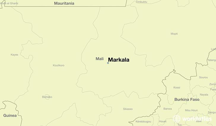 Where is Markala Mali Markala Segou Map WorldAtlascom