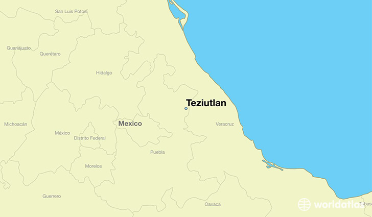 map showing the location of Teziutlan
