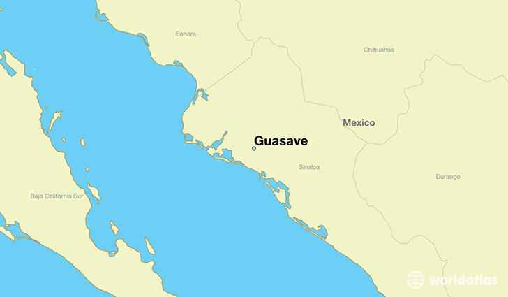 map showing the location of Guasave