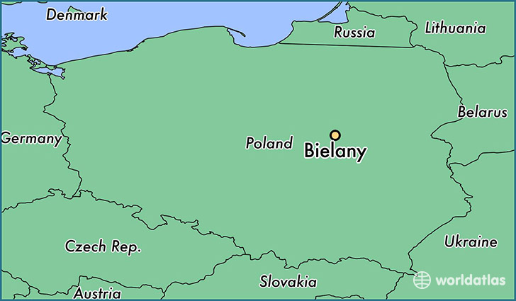 map showing the location of Bielany