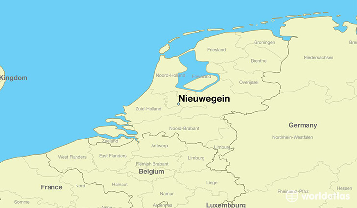 map showing the location of Nieuwegein