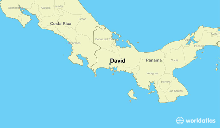 map showing the location of David