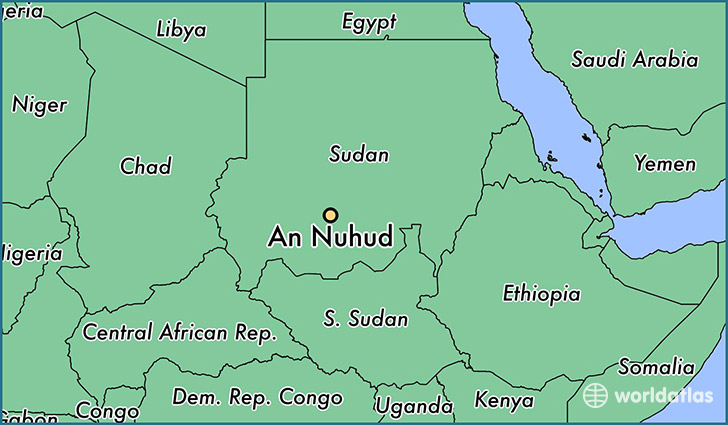 map showing the location of An Nuhud
