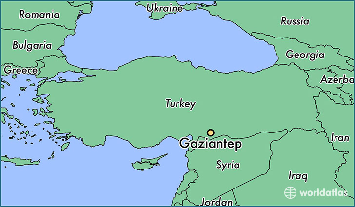 Image result for Gaziantep map
