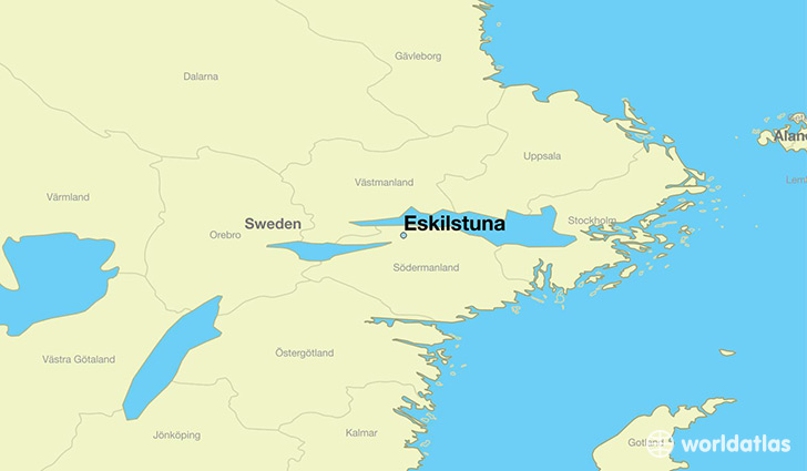 map showing the location of Eskilstuna