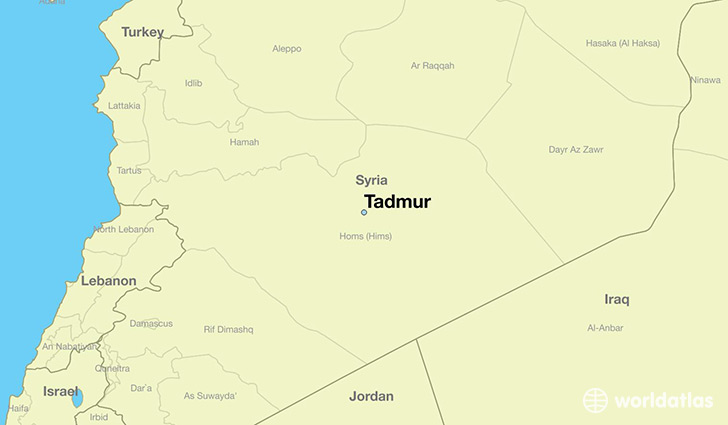 map showing the location of Tadmur