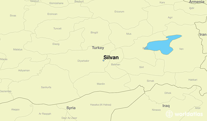 map showing the location of Silvan