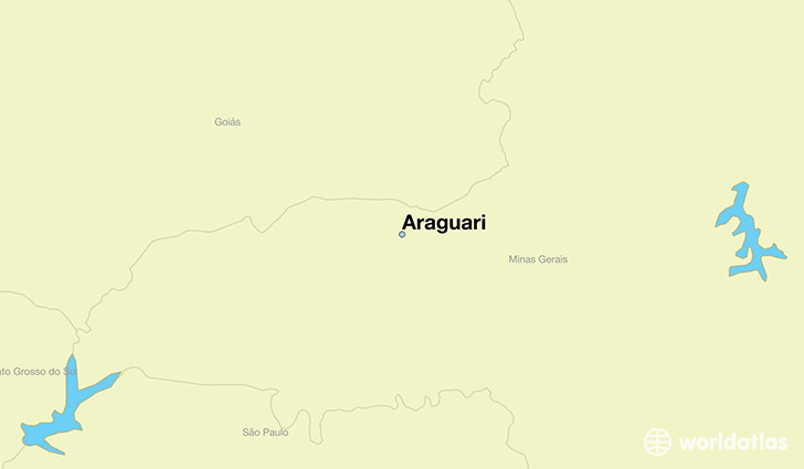 map showing the location of Araguari