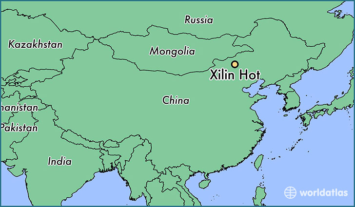 map showing the location of Xilin Hot