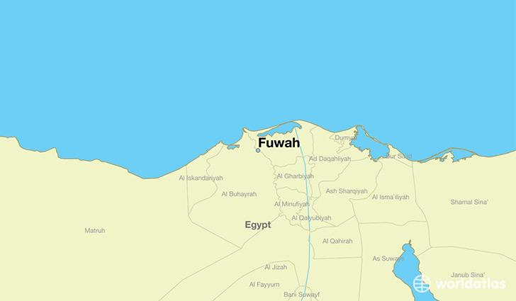 map showing the location of Fuwah