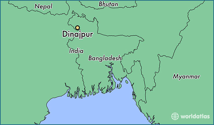 map showing the location of Dinajpur