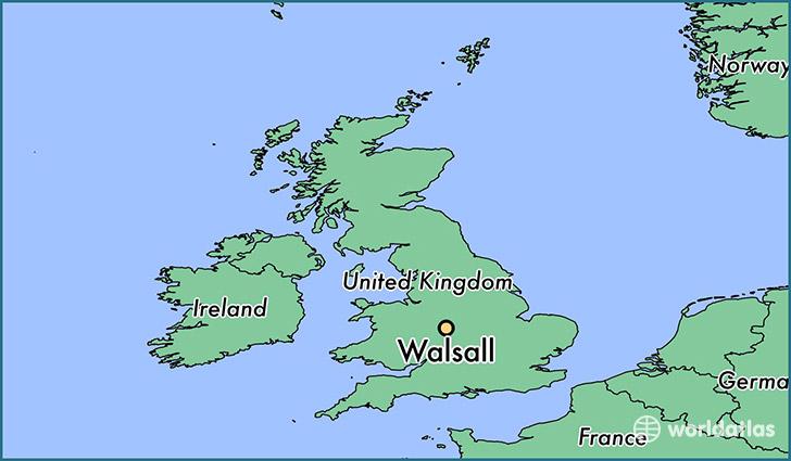 Where is Walsall England Walsall England Map WorldAtlascom