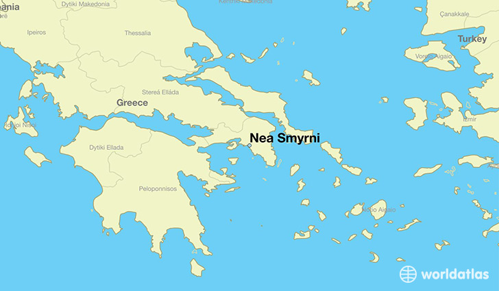 map showing the location of Nea Smyrni