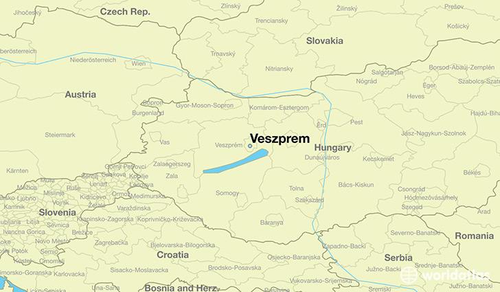 Map Of Budapest Veszprem
