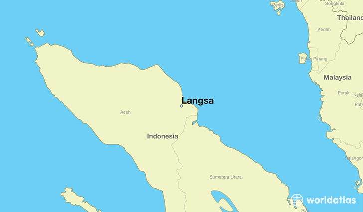 map showing the location of Langsa