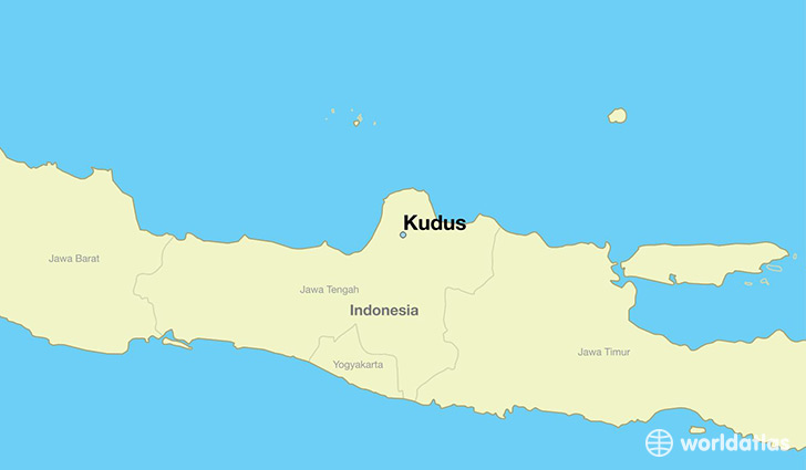 map showing the location of Kudus