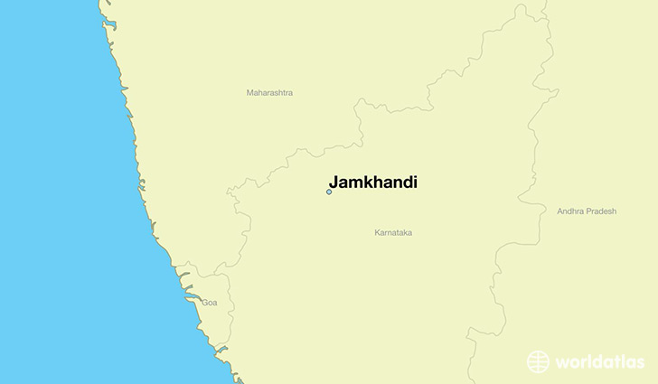 map showing the location of Jamkhandi