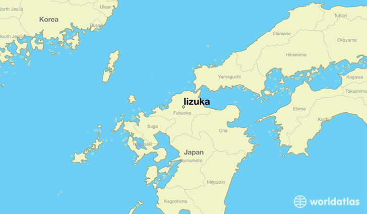 map showing the location of Iizuka