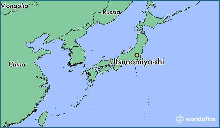 map showing the location of Utsunomiya-shi