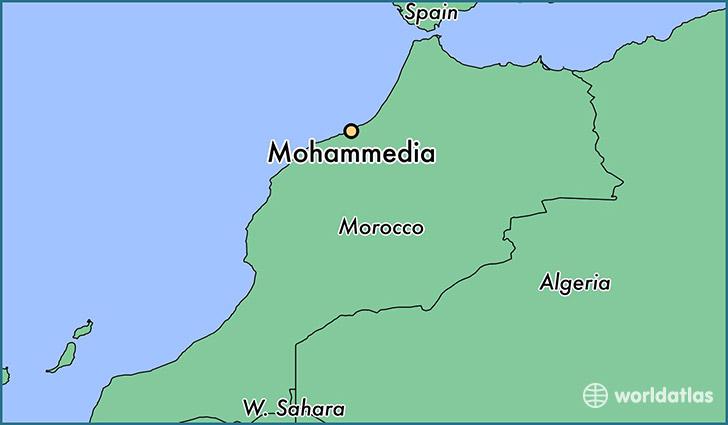 Where is Mohammedia Morocco Mohammedia Grand Casablanca Map