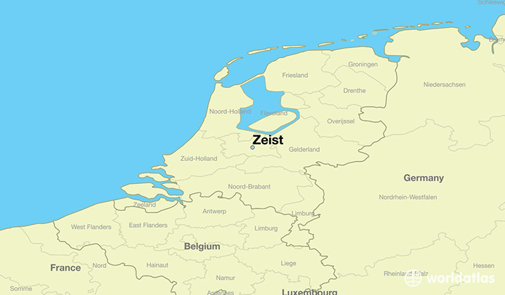 map showing the location of Zeist