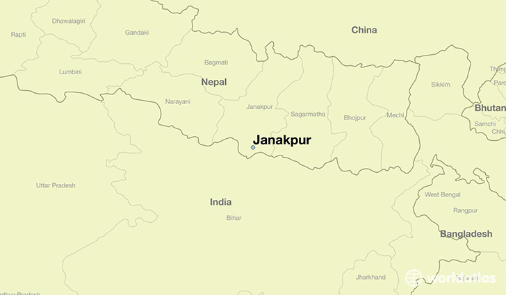map showing the location of Janakpur