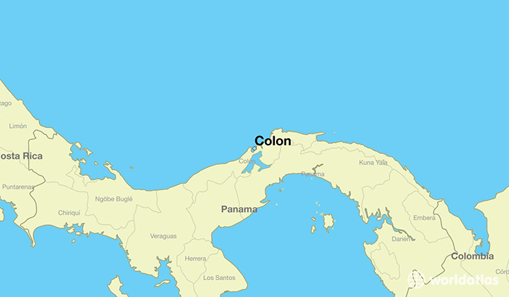 Image result for colon panama map