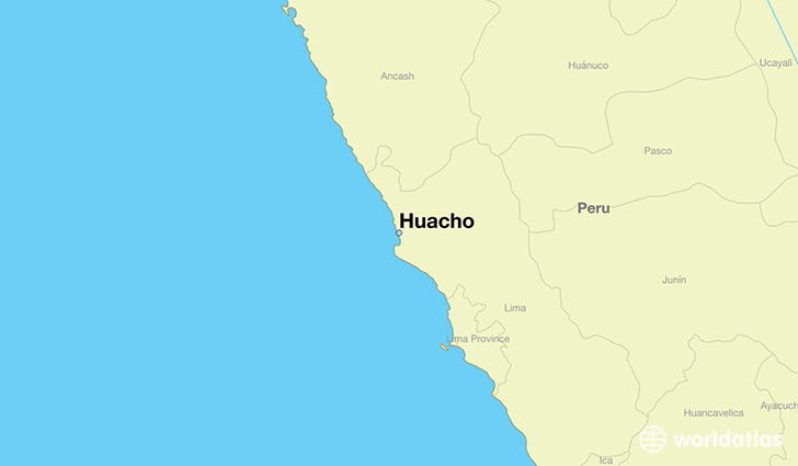 Where is Huacho Peru Huacho Lima Map WorldAtlascom